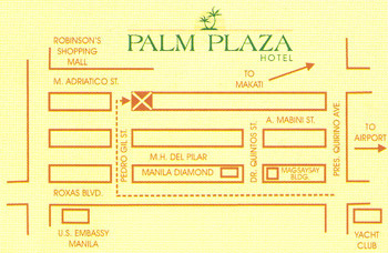 how to go to palm plaza hotel