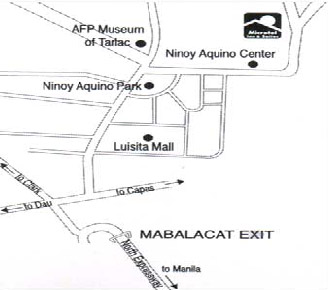 Microtel Inn and Suites Tarlac Map
